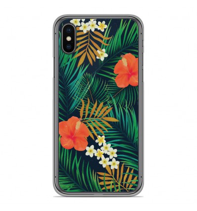 Coque en silicone Apple iPhone X / XS - Tropical