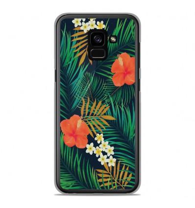 Coque en silicone Samsung Galaxy A8 Plus 2018 - Tropical