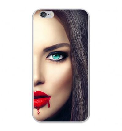 Coque en silicone Apple iPhone 6 Plus / 6S Plus - Lèvres Sang