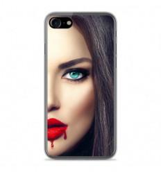 Coque en silicone Apple IPhone 7 Plus - Lèvres Sang