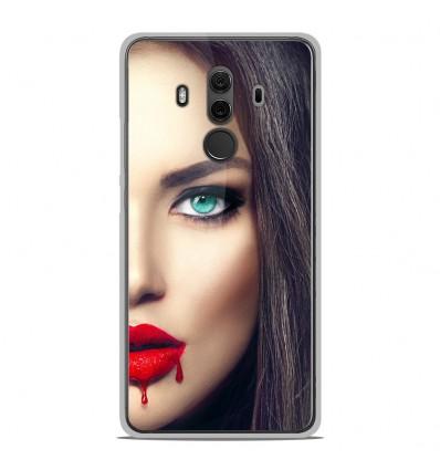 Coque en silicone Huawei Mate 10 Pro - Lèvres Sang