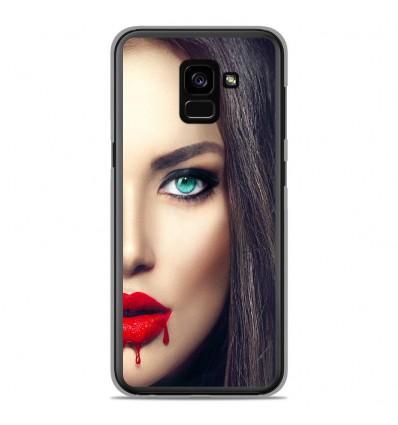 Coque en silicone Samsung Galaxy A8 Plus 2018 - Lèvres Sang