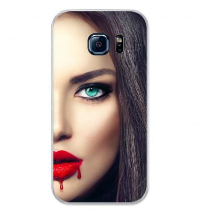 Coque en silicone Samsung Galaxy S7 - Lèvres Sang