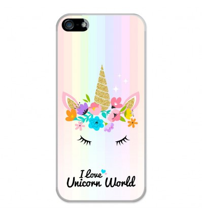 Coque en silicone Apple iPhone 5 / 5S - Unicorn World