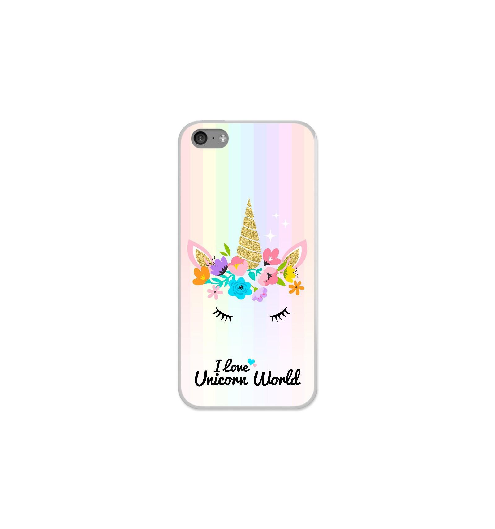 Coque en silicone Apple iPhone 5C - Unicorn World