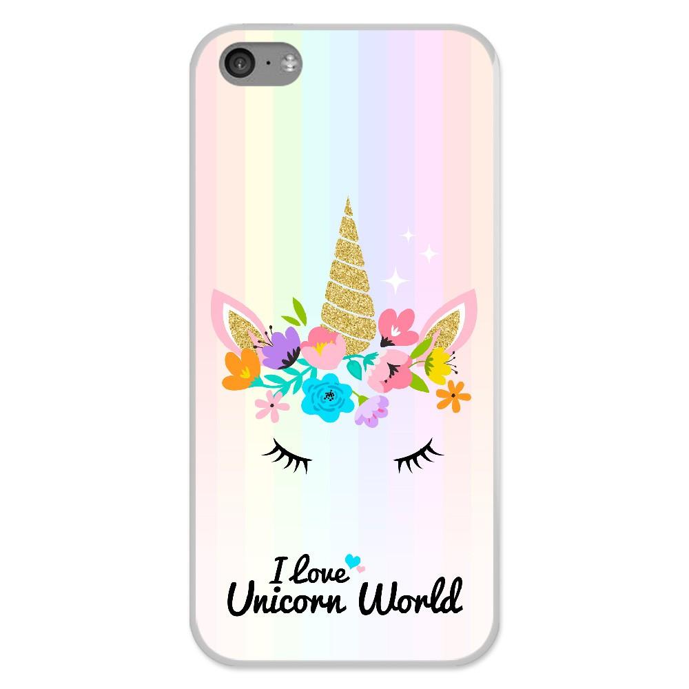 coque en silicone apple iphone 5c unicorn world