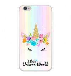 Coque en silicone Apple iPhone 6 / 6S - Unicorn World