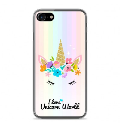 Coque en silicone Apple IPhone 7 - Unicorn World