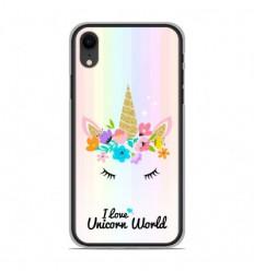 Coque en silicone Apple iPhone XR - Unicorn World