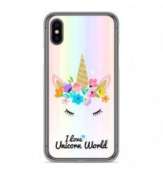 Coque en silicone Apple iPhone XS Max - Unicorn World
