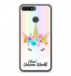 Coque en silicone Huawei Honor 7A - Unicorn World