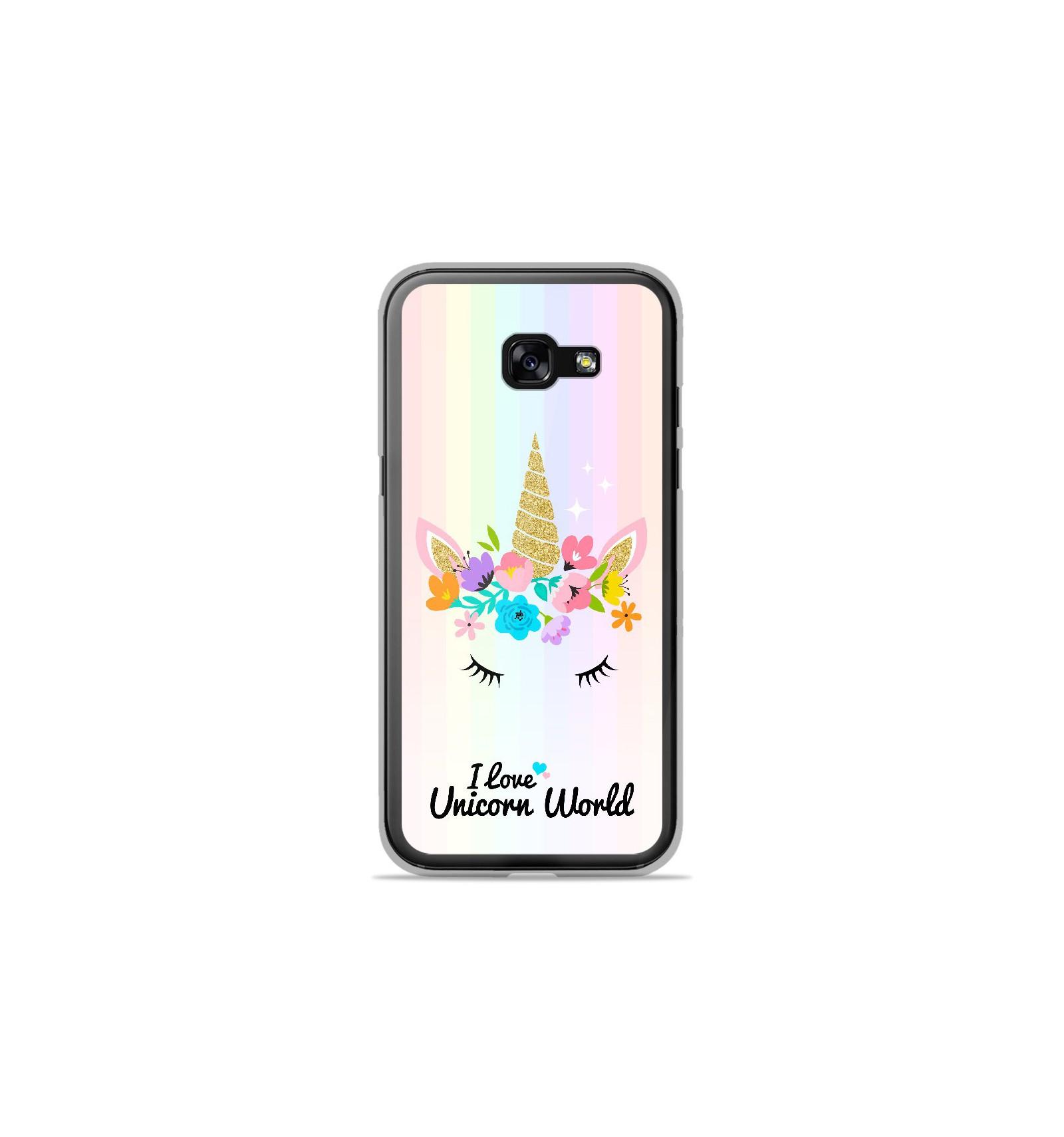 Coque en silicone Samsung Galaxy A3 2017 - Unicorn World