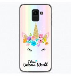 Coque en silicone Samsung Galaxy J6 2018 - Unicorn World