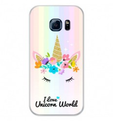 Coque en silicone Samsung Galaxy S7 - Unicorn World