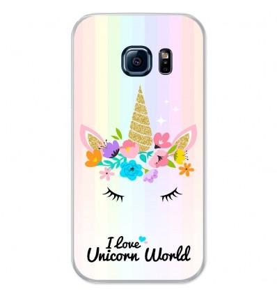Coque en silicone Samsung Galaxy S7 - Unicorn World