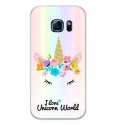 Coque en silicone Samsung Galaxy S7 Edge - Unicorn World