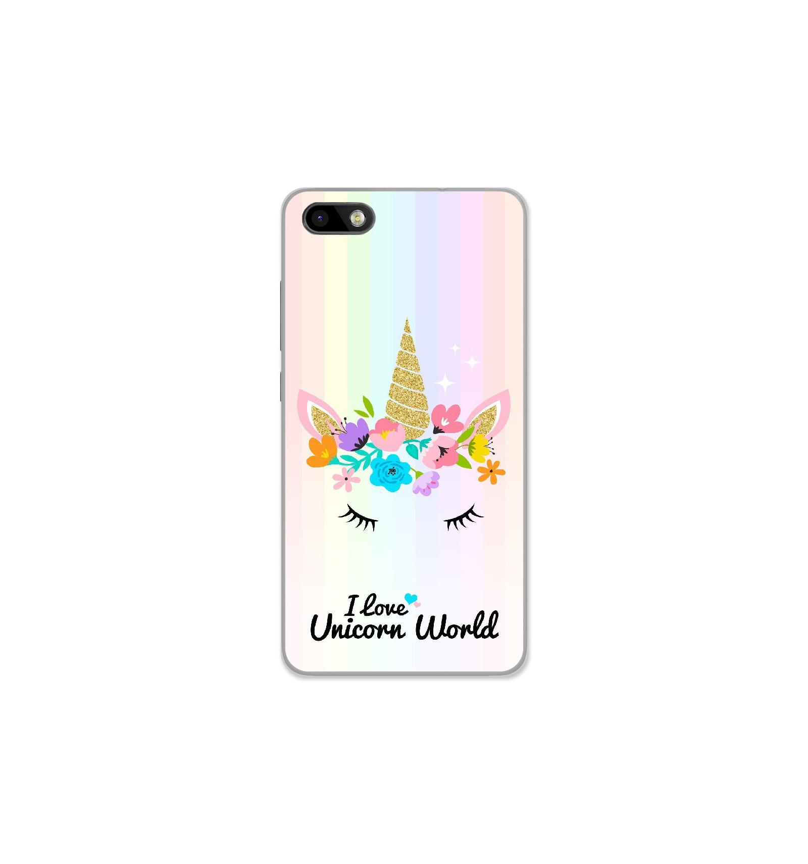 Coque en silicone Wiko Lenny 3 - Unicorn World