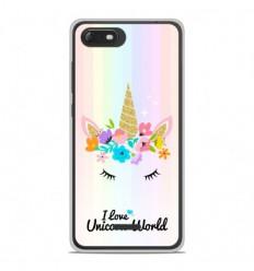 Coque en silicone Wiko Tommy 3 - Unicorn World