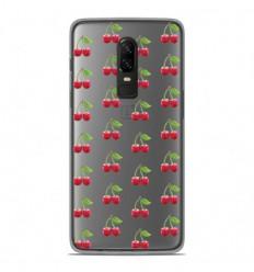 Coque en silicone OnePlus 6 - Cerises Gris
