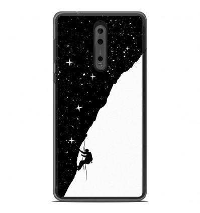 Coque en silicone Nokia 8 - BS Nightclimbing
