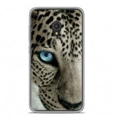 Coque en silicone Alcatel U5 4G - Oeil de léopard