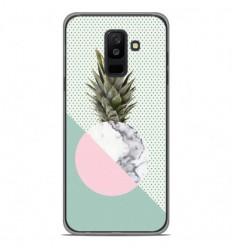 Coque en silicone Samsung Galaxy A6 Plus 2018 - Ananas marbre