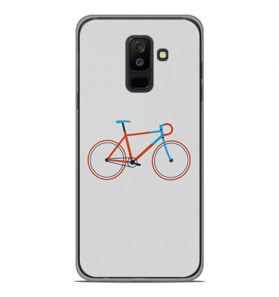 Coque en silicone Samsung Galaxy A6 Plus 2018 - Bike color Hipster