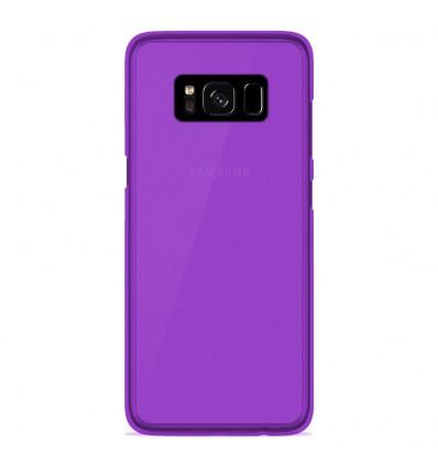 Coque Samsung Galaxy S8 Silicone Gel givré - Violet Translucide