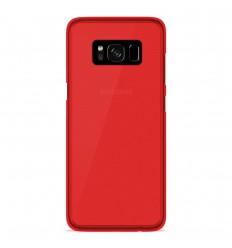 Coque Samsung Galaxy S8 Silicone Gel givré - Rouge Translucide