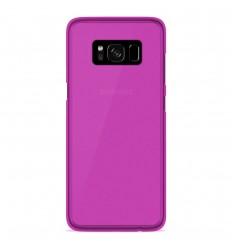 Coque Samsung Galaxy S8 Silicone Gel givré - Rose Translucide