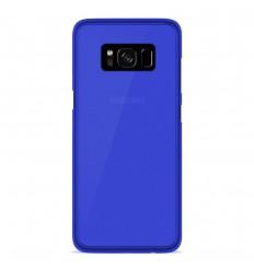 Coque Samsung Galaxy S8 Silicone Gel givré - Bleu Translucide