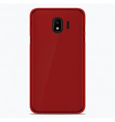 Coque Samsung Galaxy J2 Pro 2018 Silicone Gel givré - Rouge Translucide