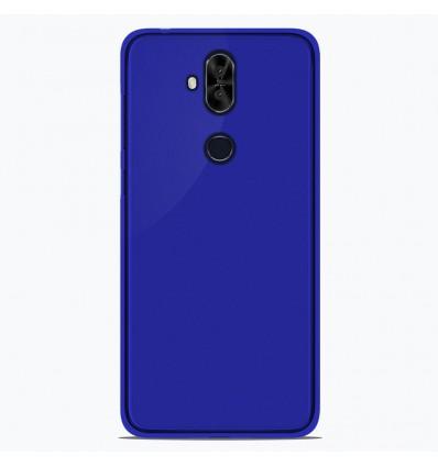 Coque Asus Zenfone 5 Lite ZC600KL Silicone Gel givré - Bleu Translucide