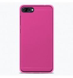 Coque Asus Zenfone 4 Max ZC554KL Silicone Gel givré - Rose Translucide