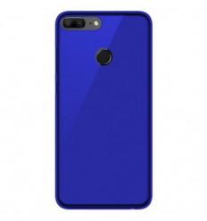 Coque Huawei Honor 9 lite Silicone Gel givré - Bleu Translucide