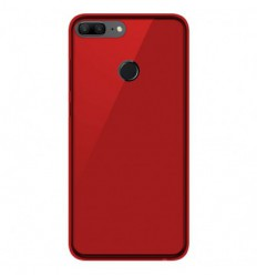 Coque Huawei Honor 9 lite Silicone Gel givré - Rouge Translucide