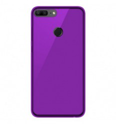 Coque Huawei Honor 9 lite Silicone Gel givré - Violet Translucide