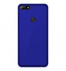 Coque Huawei Y7 2018 Silicone Gel givré - Bleu Translucide