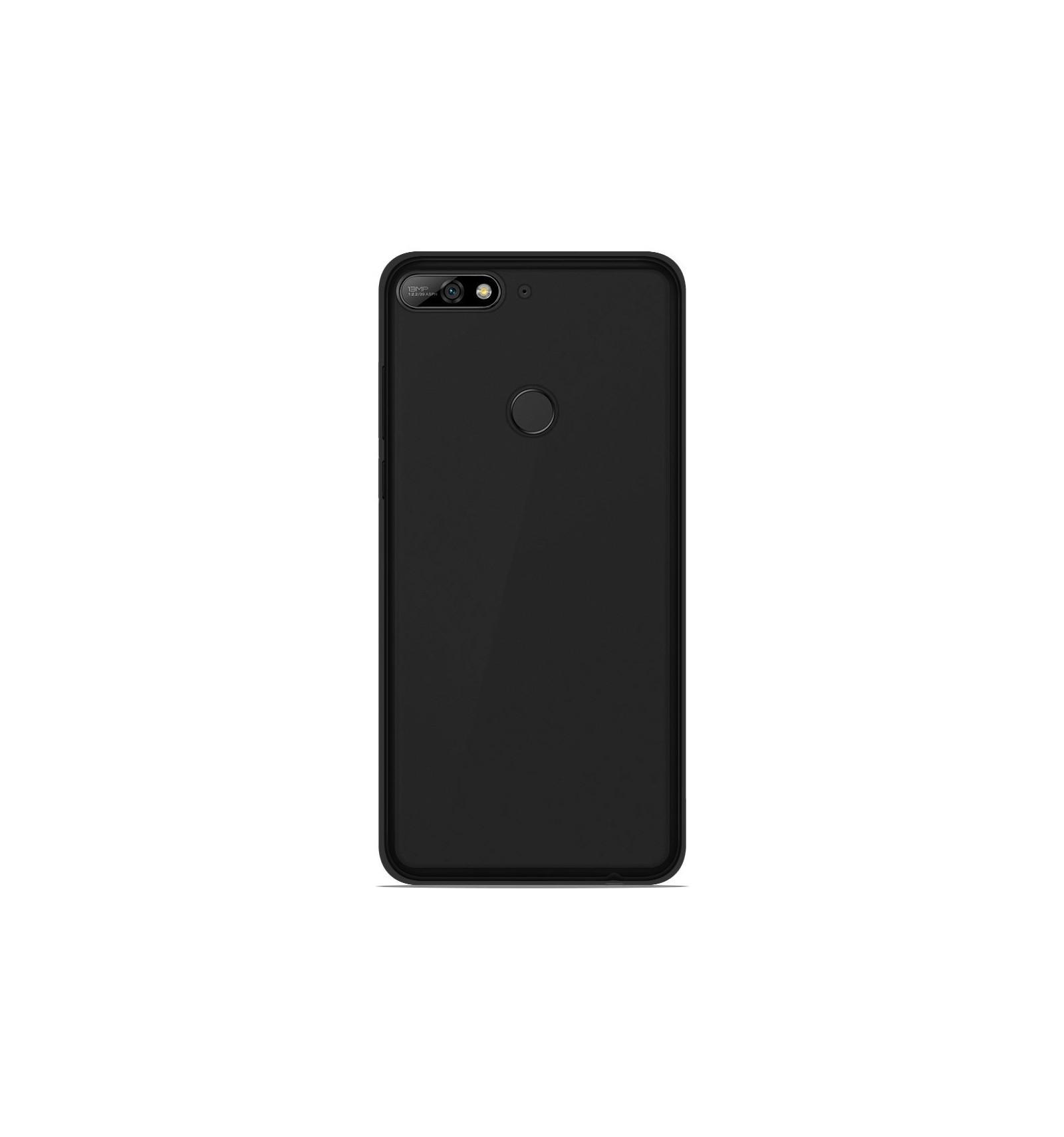 Coque Huawei Y7 2018 Silicone Gel givré - Noir