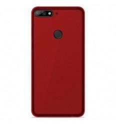 Coque Huawei Y7 2018 Silicone Gel givré - Rouge Translucide