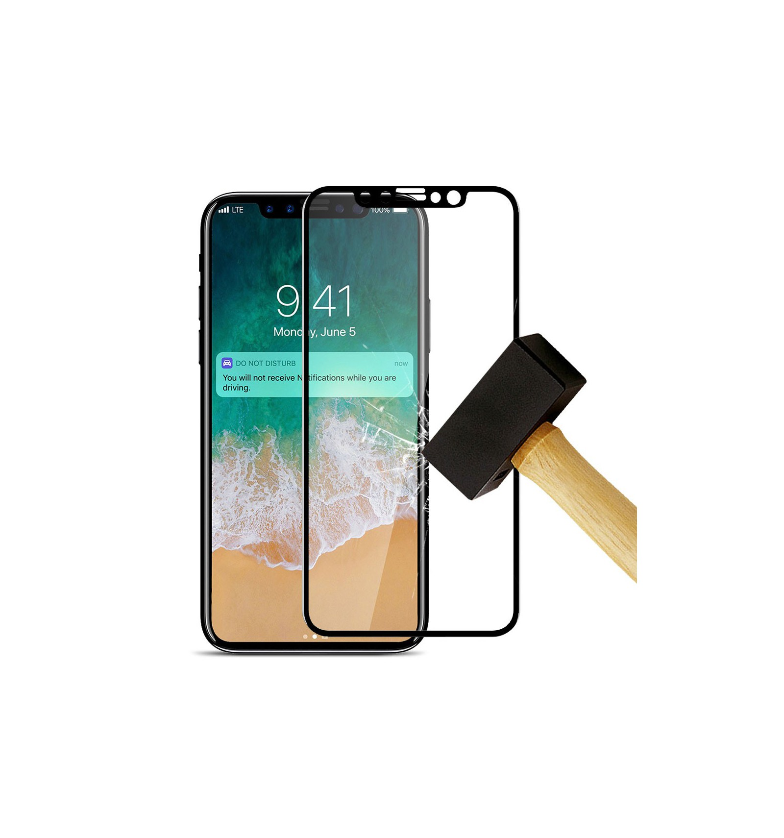 Film verre trempé 4D - Apple iPhone XR Noir protection écran 96ef81b326c4