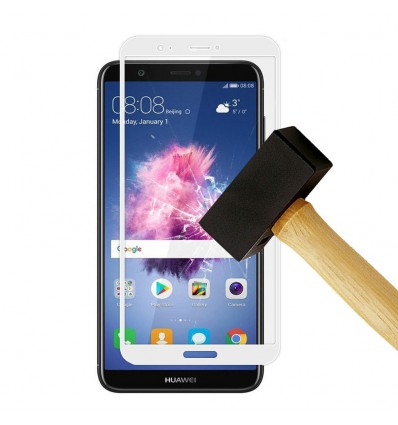 Film verre trempé 4D - Huawei P Smart Blanc protection écran