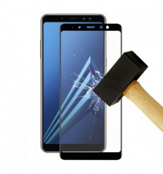 Film verre trempé 4D - Samsung Galaxy A8 2018 Noir protection écran