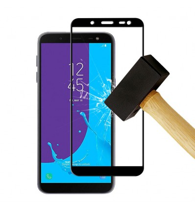 Film verre trempé 4D - Samsung Galaxy J8 2018 Noir protection écran