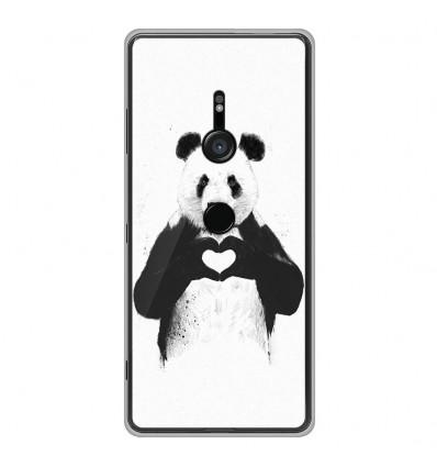 Coque en silicone Sony Xperia XZ3 - BS Love Panda