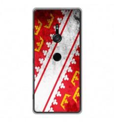Coque en silicone Sony Xperia XZ3 - Drapeau Alsace