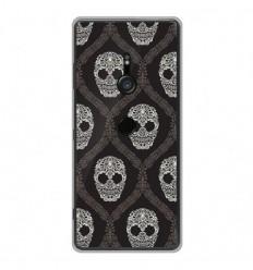 Coque en silicone Sony Xperia XZ3 - Floral skull