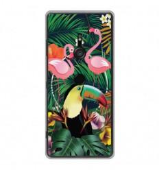 Coque en silicone Sony Xperia XZ3 - Tropical Toucan