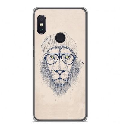 Coque en silicone Xiaomi RedMi Note 5 / Note 5 pro - BS Cool Lion