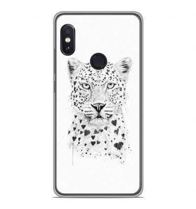 Coque en silicone Xiaomi RedMi Note 5 / Note 5 pro - BS Love leopard